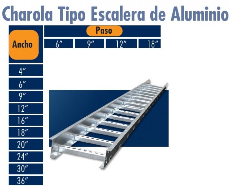Charolas de aluminio tipo escalera el ctrica for Tipos de escaleras de aluminio